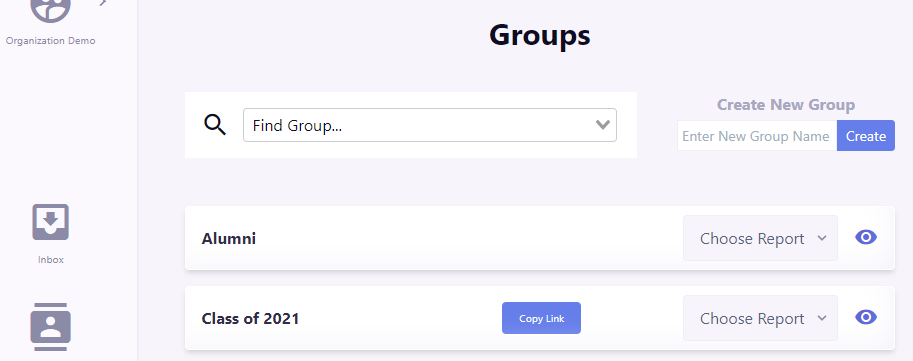 Groups Screen